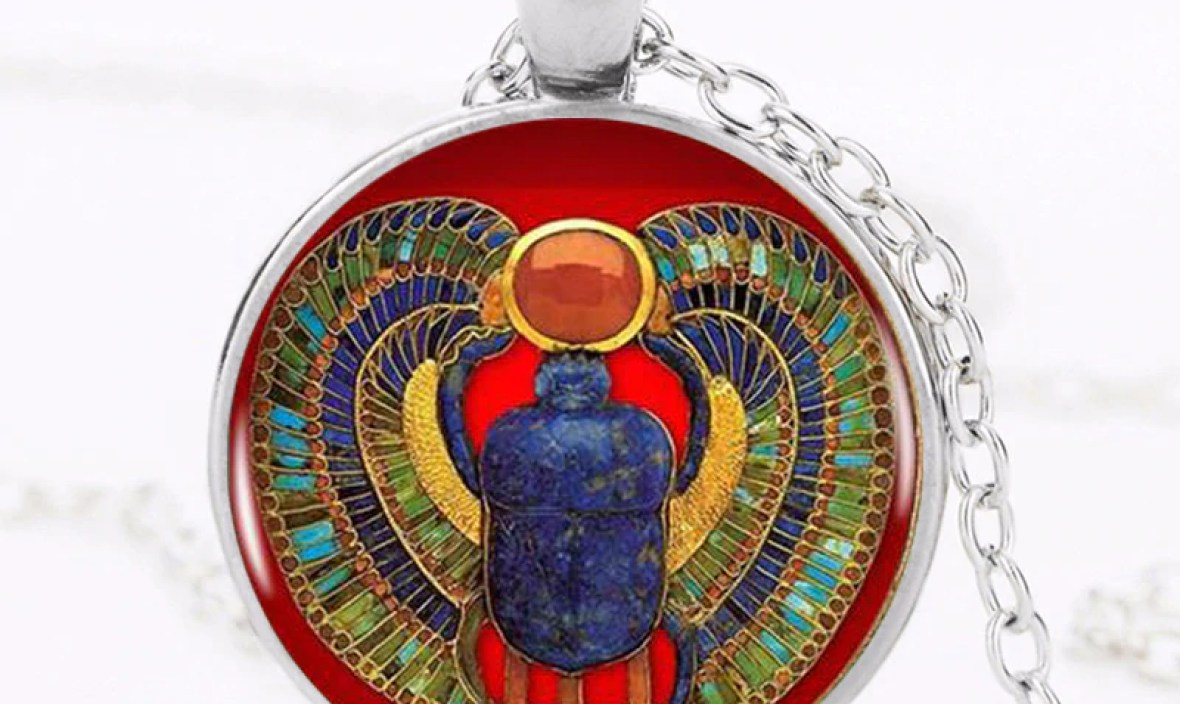 2017 Fashion Egyptian Scarab Necklace, ancient egypt jewelry Egypt necklace Egyptian jewelry For Women,4 colors for choosing HZ1