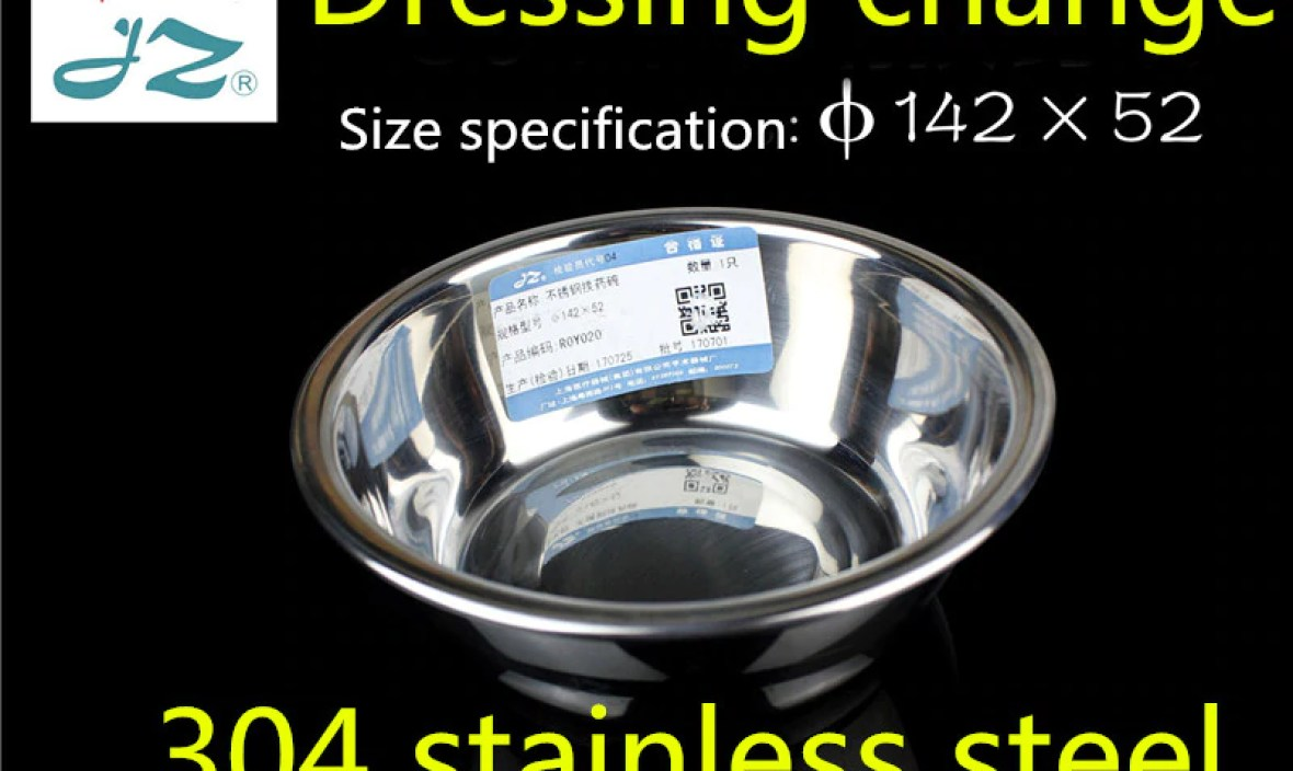 JZ medical instrument gauze dressing change drug bowl Thicker 304 stainless steel Operating bowl Disinfection dish 12 14 16cm