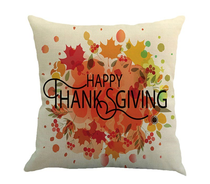 Home Pillow Throw Pillow Happy Thanksgiving Covers Linen Home Design Thanksgiving for Home Bedding Throw Pillow Case