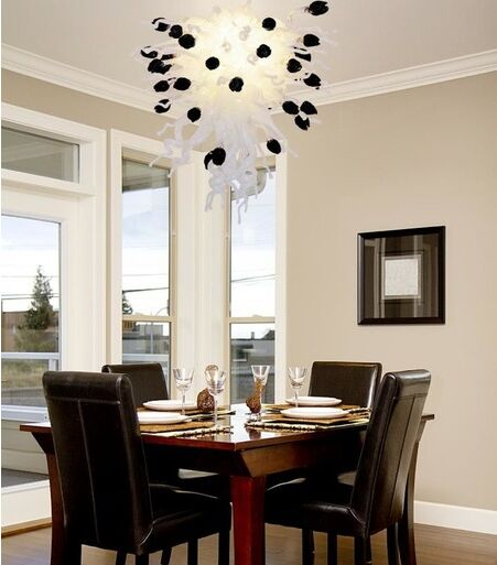 Home Design Luxury Dining Room Hand Blown Glass Chandelier