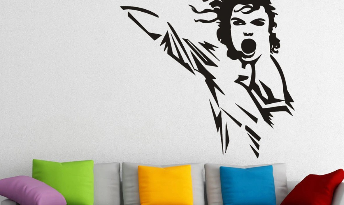 Super Stars Michael Jackson Singing Wall Decals For Kids Boys Room Home Decor Vinyl Stickers Muraux Home Design Art Poster A302