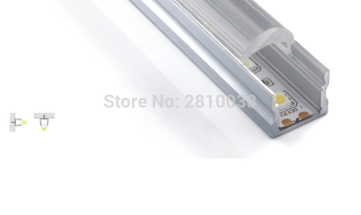100 X 1M SetsLot Home design led aluminum profile and linear led channel with 30 degree lens for recessed wall lights