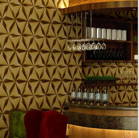 3D Modern Imitation Leather Rhombic Texture Wallpaper Sofa Tv Living room Bedroom Background Wall Home Design Decoration