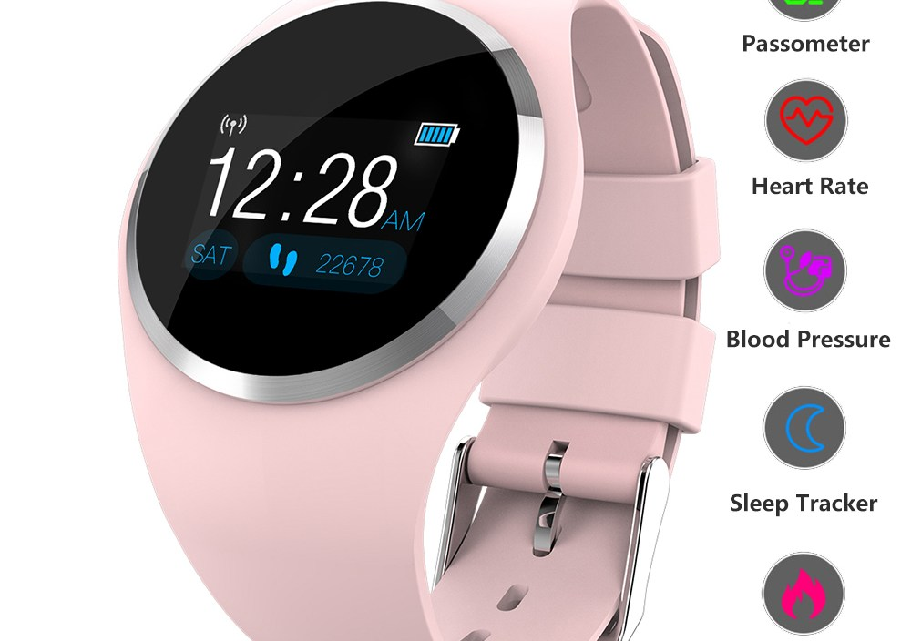 Smart Watch Smart Band Fitness Bracelet Color Screen Women Watch Heart Rate Blood Pressure Smart Wristband For IOS Android Phone