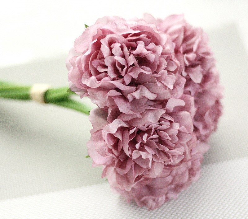 2017 Wedding 5pcs Real Touch Flower Peony Flowers Bouquet Home Design Decors New