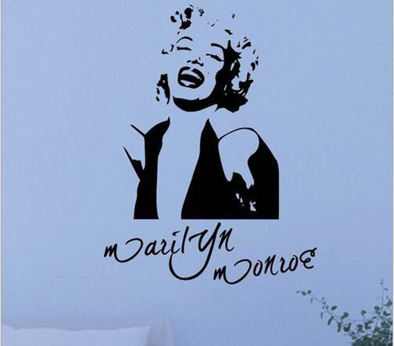 Marilyn Monroe Wall Sticker Signature Home Design Decoration Girls Room Wall Decals Decor Adesivo De Parede Vinyl Murals A892