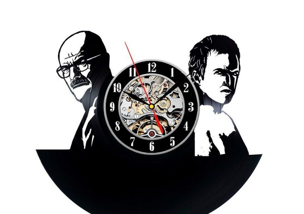 Breaking Bad Vinyl Record Clock Home Design Room Art Decor Handmade Vintage la crosse