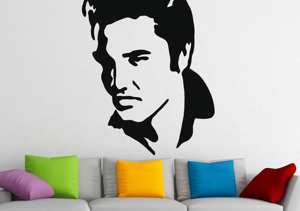 Elvis Presley Stickers Vinyl Wall Decals Living Room Home Decor Vinilos Paredes Muursticker Muraux Home Design Murals Art A313