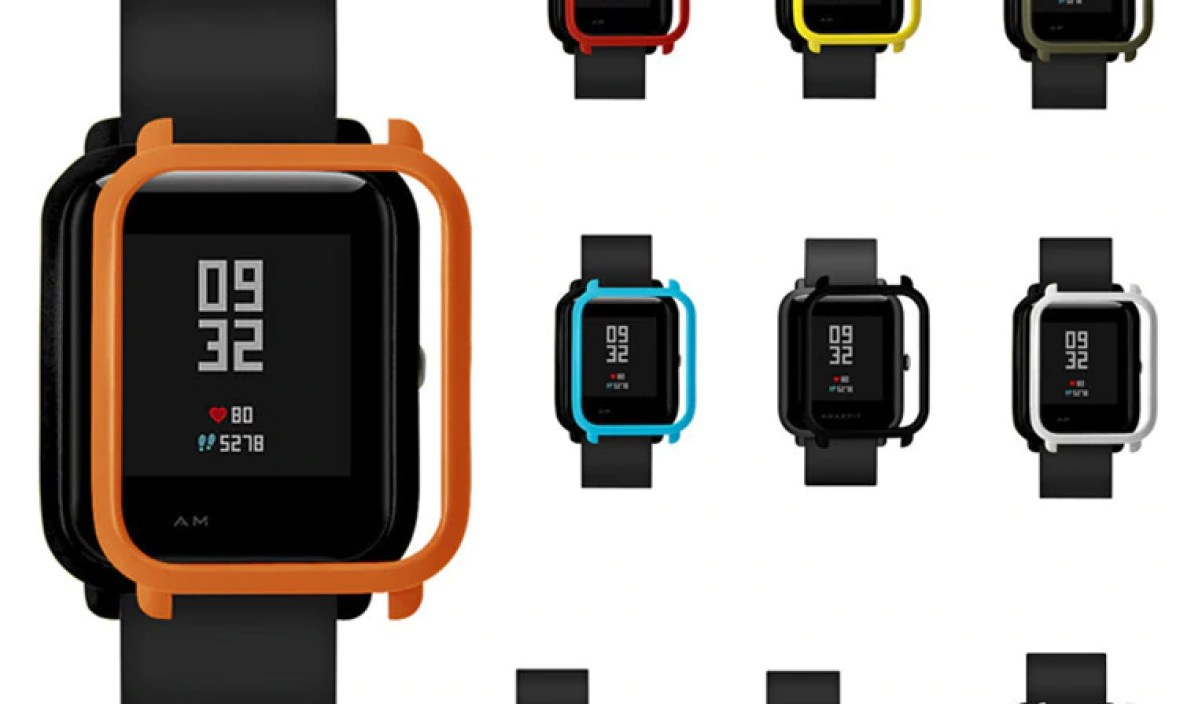 Watch Frame Amazfit Bip Youth Smart Watch Protector Case Slim Colorful Frame PC Case Cover Protect Shell For Xiaomi Huami