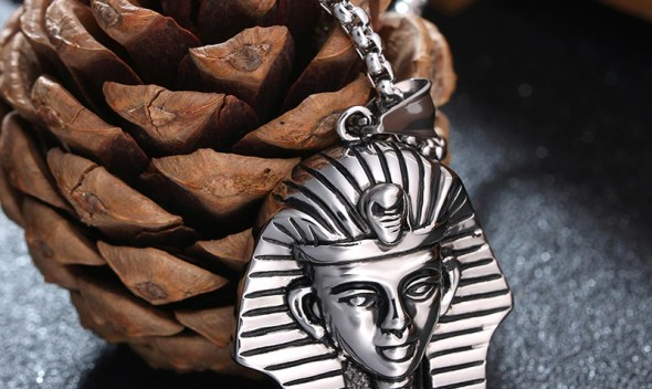 Ancient Egypt Charm Necklace Pharaoh King Stainless Steel Necklaces & Pendants Vintage Jewelry For Men/Women
