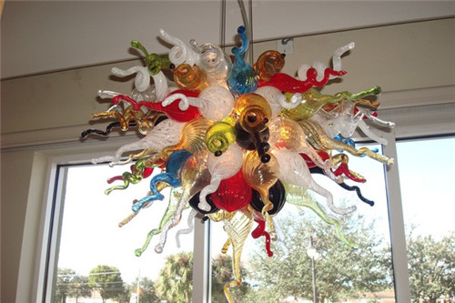Chihuly Style Home Designed Murano Blown Glass Crystal LED Art Decorative Vintage Colorful Chandelier