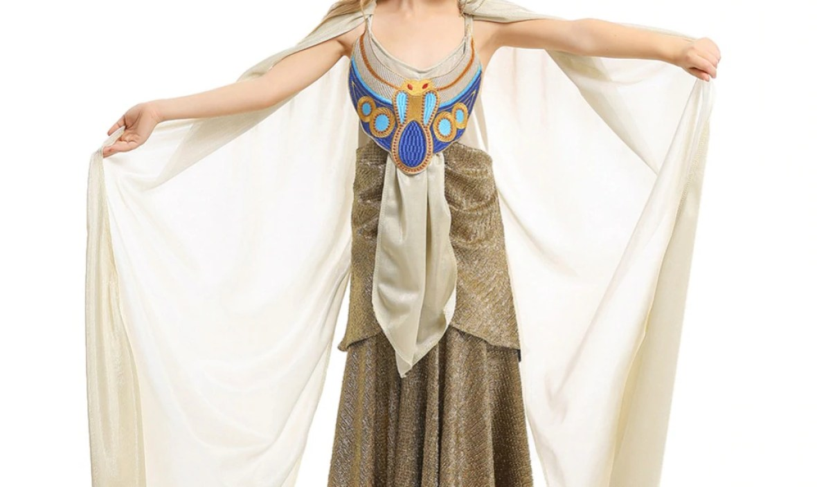 Ancient Egypt Cleopatra Costume Princess Dress for Child Halloween Costume Girl Kids Performance Shown Queen Cosplay Dress