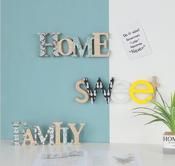 Free Shipping!North Europe Style Wall Sticker Ins Fashion Bedroom Wall Decor I love my sweet Home Wall board Mix Design