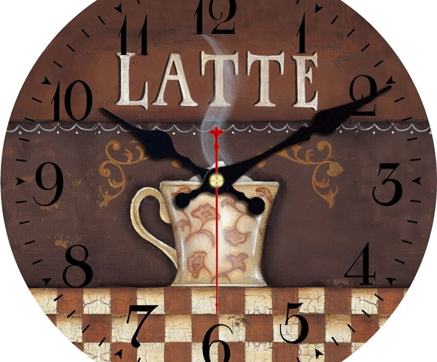 Vintage Wall Clocks Cafe Design Silent Home Office Cafe Wall Decoration Clocks Home Art Wall Shabby Chic Large Wall Clocks
