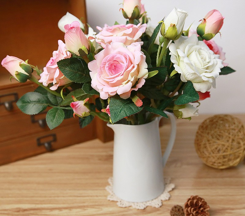 Rose Artificial Flowers Silk For wedding Home Design Bouquet Decoration Artificial Flowers Rose Decoration Flowers