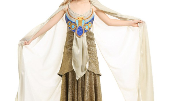 Ancient Egypt Egyptian Pharaoh Cleopatra  Princess Costume for Children Halloween Costumes Girl Kids Cosplay dress