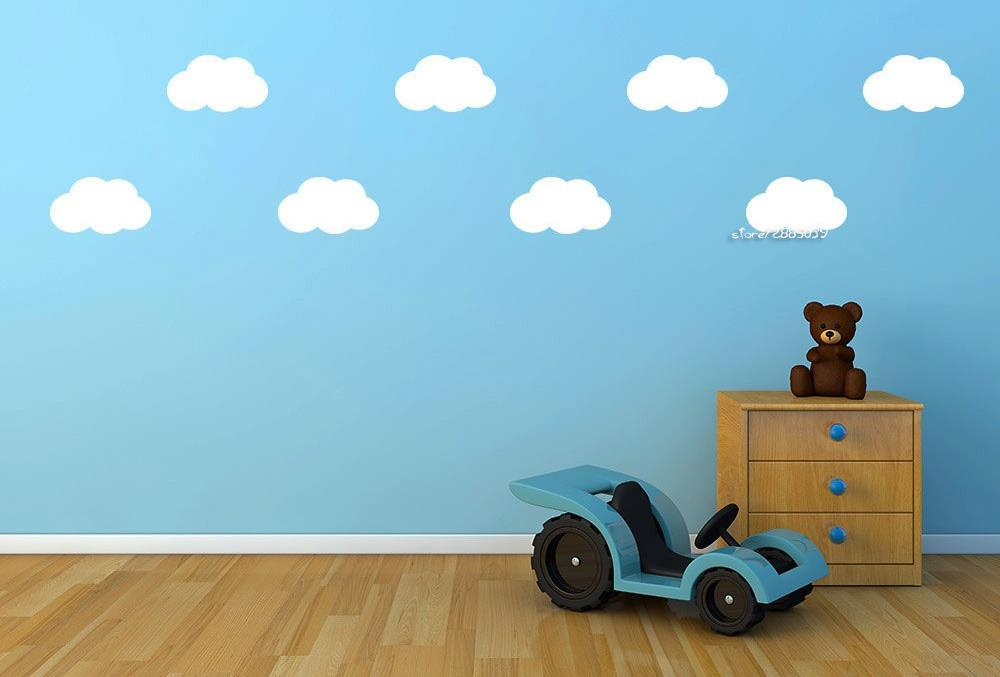 Clouds Pattern Mini Wall Stickers Removable Wall Decals Decor Boys Kids Room Wallpaper Home Design Wall Tattoo Poster SA648