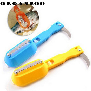SALE !! 2015 Hot Sale Kitchen Cooking Tool Plastic and Stainless Steel cleaning fish knife knife for cleaning fish fish descaler