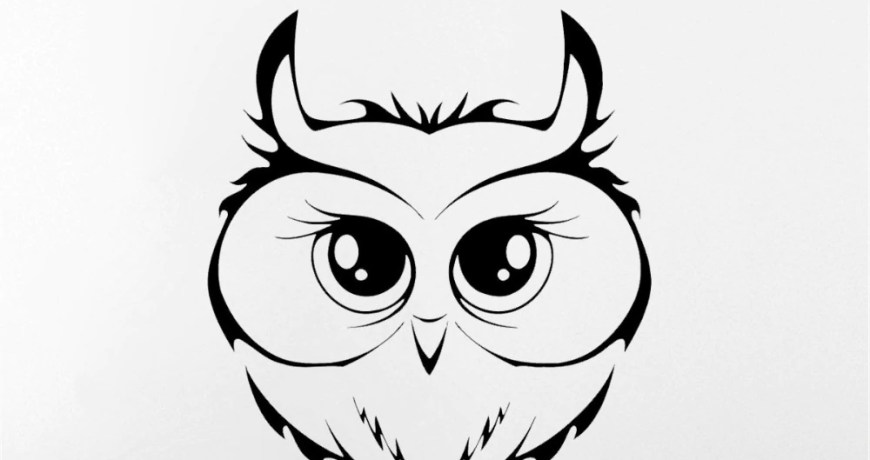 JOYRESIDE Owl Bird Sticker Animal Decals Vinyl Dorm Kids Boy Girls room Living room Interior Bedroom Home Design Art Mural A1337