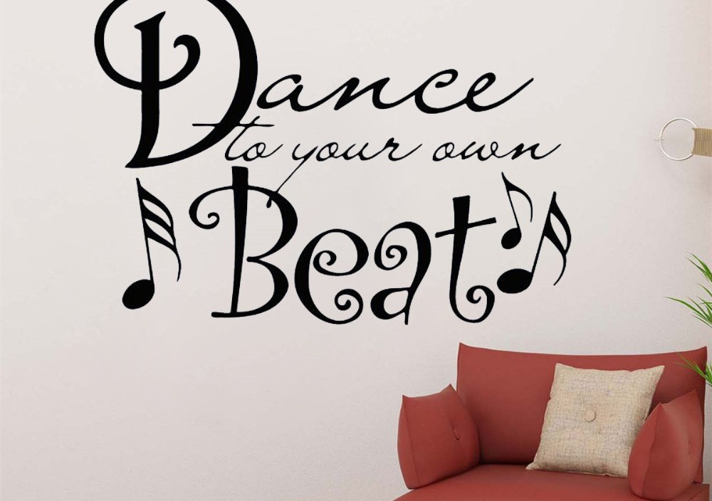 JOYRESIDE Quotes Sticker Dance Decals Vinyl Dance To Your Own Beat Living Room Interior Bedroom Home Design Art Mural A1362
