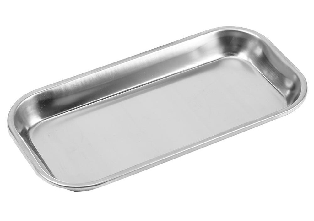 1pc Dental 201 Stainless Steel Medical Instrument Tray Useful Tool Clinic Lab Dish Portable Tray Lab Instrument Tools Storage