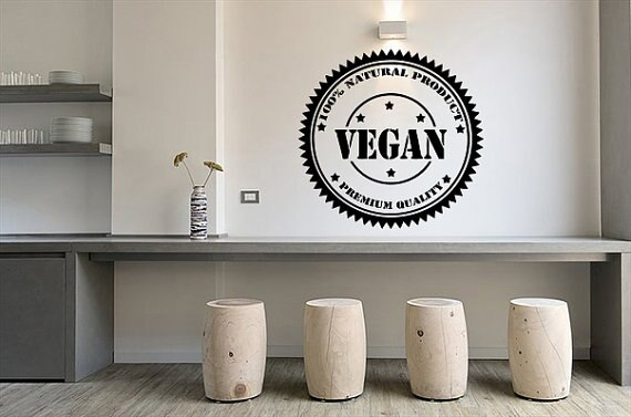 Art Vegan Power Vegetable Wall Sticker Decals Vinyl Mural Home Design Kitchen Decor Nature Flora Food Health Life Decal LC041