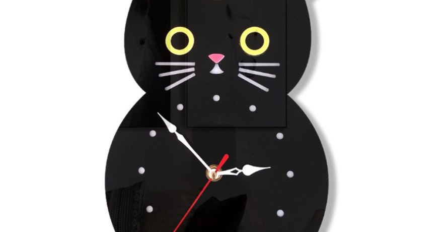 Kids Wall Clock Cute Clok Bear Cat Best Selling 2019 Products Nordic Design Modern Room Decoration Living Room Deco Home Design