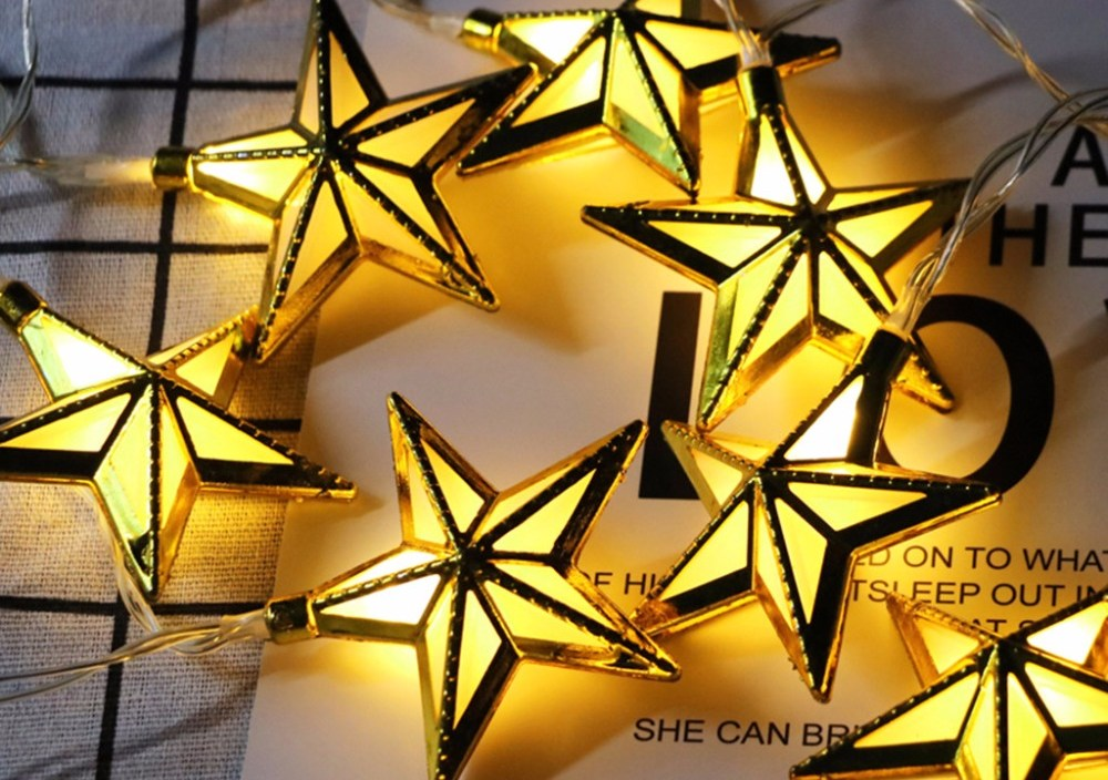 Ramadan Eid Decor Lights Star Shape LED Lights Home Festival Party Festival Favor Nice Ramadan Muslim Party Decoration Lamps#007