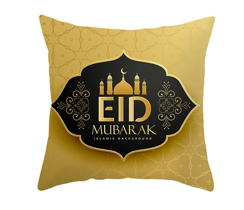 ramadan and eid decorations Polyester Cushion Cover 45x45cm Decorative Pillowcase for Sofa Car Home Ramadan Decoartion 9A05