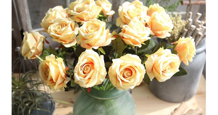 5Pcs/lot Real Touch Rose Artificial Flowers Silk for Wedding Home Design Bouquet Decoration Valentine Day Home Decoration