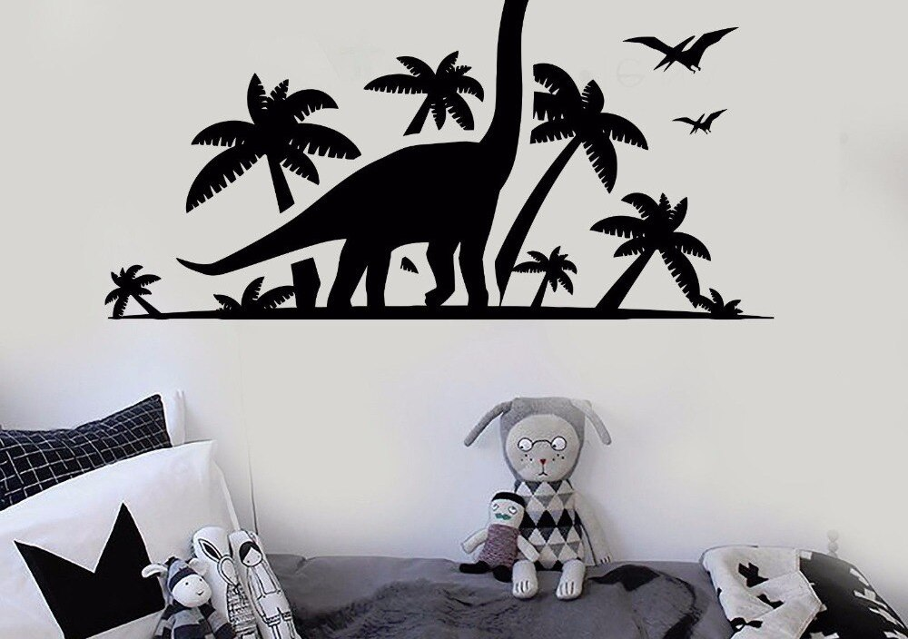 Vinyl Wall Decal Removable Dinosaur Park Wall Sticker Children Kids Room Vinyl Mural Home Design Decoration Accessories AY511