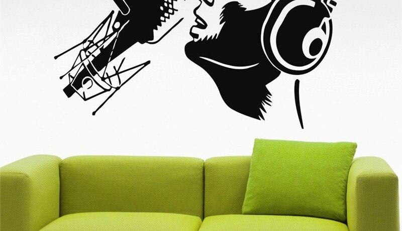 Super Singer Boys Wall Stickers Vinyl Transfer Stencil Decal Sticker Wall Art Home Design Poster Vinilos Paredes Wallpaper