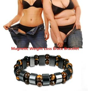 Weight Loss Natural Stone Magnetic Therapy Bracelet for Women Men Health Care Magnetic Hematite Stretch Bracelets Healing Bangle