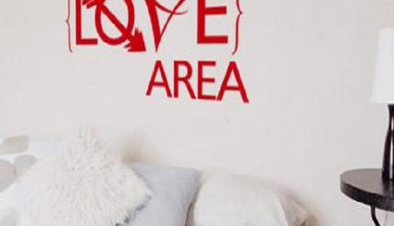 Fashionable Wall Sticker quote Love Area bedroom Vinyl Removable wall decal Creative Room Wall Decal Art Home Design decoration