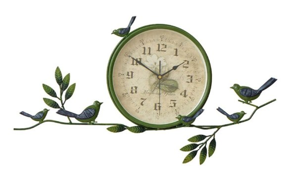 STAYGOLD Zakka Bird Branches 3d Wall Clock Home Decoration Accessories Enfeites Para Casa Vintage Retro Clocks