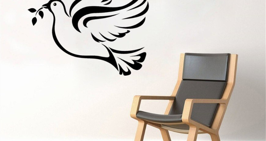 JOYRESIDE Dove Wall Animal Bird Grass Decals Vinyl Sticker Kids Room Bedroom Living room Decoration Home Designs Art Mural A1458