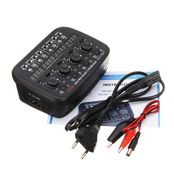 Sale! HTRC X4 Micro Multi AC/DC 24W 1.5A 1cell 1S 3.7V Lipo LiHV Charger For RC Models Toys Accessories