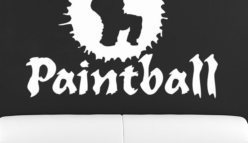 Paintball Player Silhouette Sport Wall Vinyl Decal Gym Stylish Sticker Wall Art Home Design Murals Adesive De Parede Poster A264
