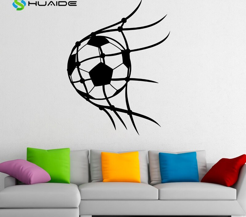 Soccer Ball Wall Decal Football Vinyl Stickers Sport Game Player Interior Home Design Art Murals Wall Graphics Decor Poster A76