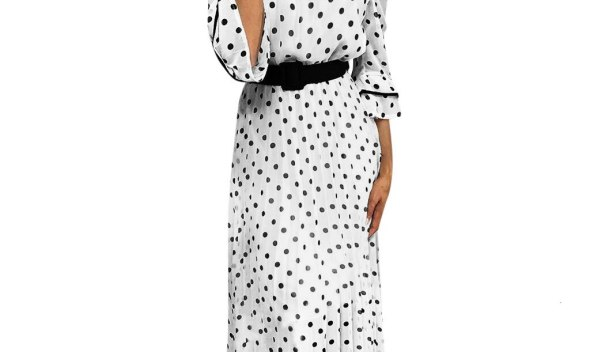 sales beach Boho party sexy dresses vestido  Women's Casual Off Shoulder Dot Printed Long Party Wedding Guest Dress S-2XL sales