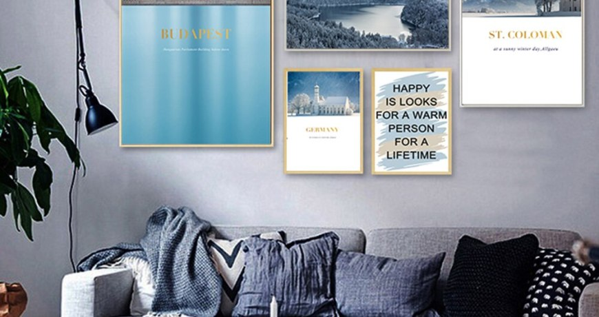 HD Printed Nordic Castle Seascape Pictures For Home Design Home Boys Room Home Decor