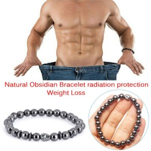 Weight Loss Skull Black Stone Health Care Biomagnetism Magnet Reduce Weight Hand Ornament Men Women Magnetic Therapy Bracelet