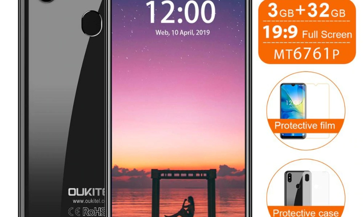 OUKITEL C15 Pro+ Smartphone 6.088 inch 3GB RAM 32GB ROM 3200mAh Mobile Phone Fingerprint Face ID 4G LTE Android 9.0 Cellphone