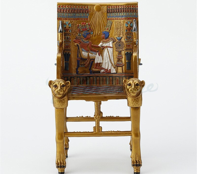 Ancient Egypt King Chair Art Sculpture Figurine Creative Resin Crafts Decorations For Home Birthday Gift R3680