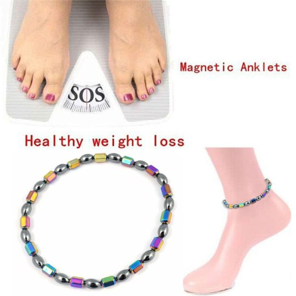 Weight Loss Product Slimming Health Care jewelry Weight Loss Magnet Anklet Colorful Stone Magnetic Therapy Bracelet Anklet