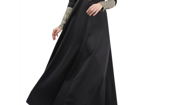 Ramadan Muslim Polyester Dress Women Dubai Abaya Robe Long Sleeve Cardigan Kaftan Elegant Design zipper Maxi Dress Clothes 4.13