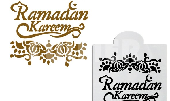 Ramadan kareem design decoration  cake stencil , baking and pastry tool cookie fondant cake Pattern Printing stencil cake mold