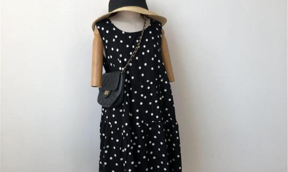 [End of Year Celebration] Summer Skirt Crew Neck Sleeveless Sundress Elegant Polka Dot Dress