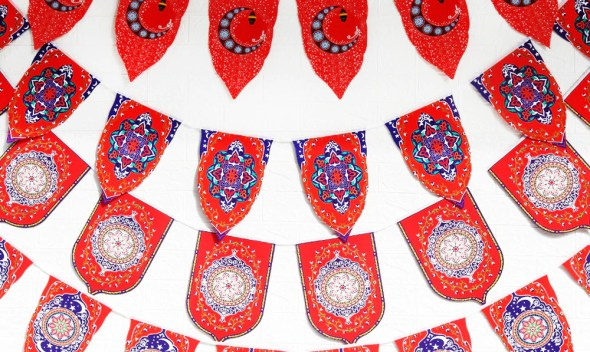 Ramadan Banner Eid Sticker Ramadan Muslim Festival Ramadan Flag Islamic Gift Home Ramadan Eid Muslim Party Decorations Supplies