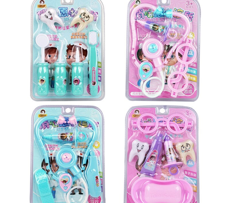 Children's educational simulation toy doctor nurse housekeeping set medical instrument stethoscope thermometer